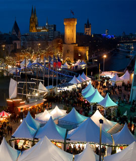 Cologne Harbour Christmas Market at the Chocolate Museum