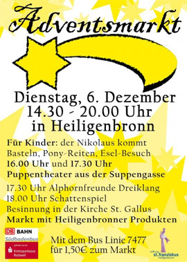 Adventsmarkt in Heiligenbronn