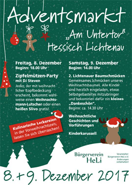Adventsmarkt am Untertor in Hessisch Lichtenau 2018