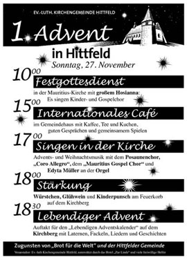 1. Advent in Hittfeld
